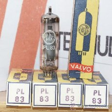 Radios antiguas: PL83 VALVULAS (ELECTRONIC TUBES) LOTE DE 5 VALVULAS . Lote 152931224