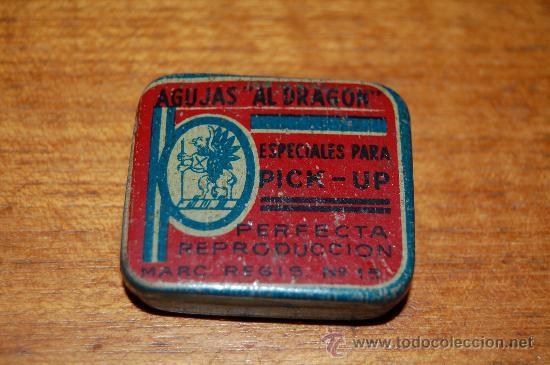 CAJITA DE AGUJAS DE GRAMOFONO. (Radios, Gramófonos, Grabadoras y Otros - Repuestos y Lámparas a Válvulas)