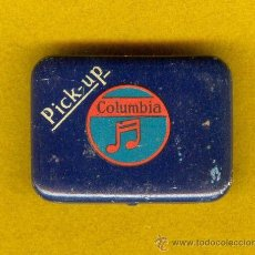 Radios antiguas: CAJITA, CAJA METALICA DE AGUJAS DE GRAMOFONO, FONOGRAFO, PICK-UP COLUMBIA, AÑOS 10, 20, 30.. Lote 30974821