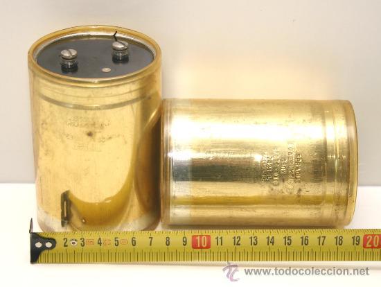 2 CONDENSADORES ELECTROLITICOS SPRAGUE 51000 MF 40 VDC TESTADOS (Radios, Gramófonos, Grabadoras y Otros - Repuestos y Lámparas a Válvulas)