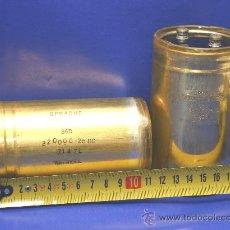 Radios antiguas: 2 CONDENSADORES ELECTROLITICOS 32000 MF 25 VDC TESTADOS. Lote 31458274