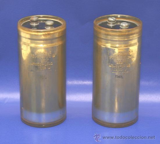 2 CONDENSADORES ELECTROLITICOS 42000 MF 10 VDC TESTADOS (Radios, Gramófonos, Grabadoras y Otros - Repuestos y Lámparas a Válvulas)