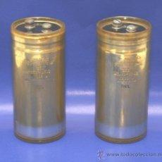 Radios antiguas: 2 CONDENSADORES ELECTROLITICOS 42000 MF 10 VDC TESTADOS. Lote 31458762