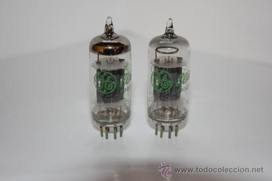 6C4 - EC90 GENERAL ELECTRI VALVULA ( ELECTRONIC TUBE ) ( NOS ) 2 VALVULAS (Radios, Gramófonos, Grabadoras y Otros - Repuestos y Lámparas a Válvulas)
