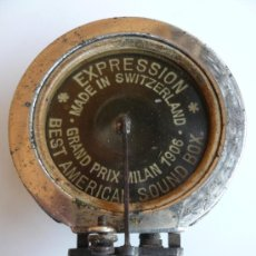 Radios antiguas: DIAFRAGMA ORIGINAL - EXPRESSION - BEST AMERICAN SOUND BOX - 1906. Lote 35484345