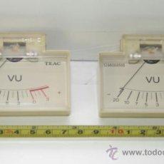 Radios antiguas: VU METER INSTRUMENTOS DE PANEL TEAC CON LUZ INTERIOR -DOS UNIDADES. Lote 37356677