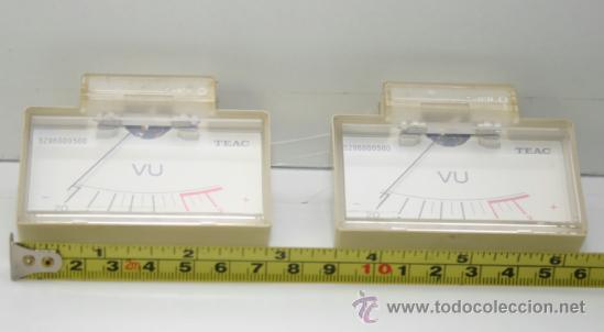 Radios antiguas: VU METER INSTRUMENTOS DE PANEL TEAC con luz interior -dos unidades - Foto 3 - 37356677