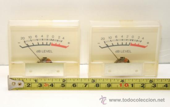 VU METER INSTRUMENTOS DE PANEL DB LEVEL - DOS UNIDADES (Radios, Gramófonos, Grabadoras y Otros - Repuestos y Lámparas a Válvulas)