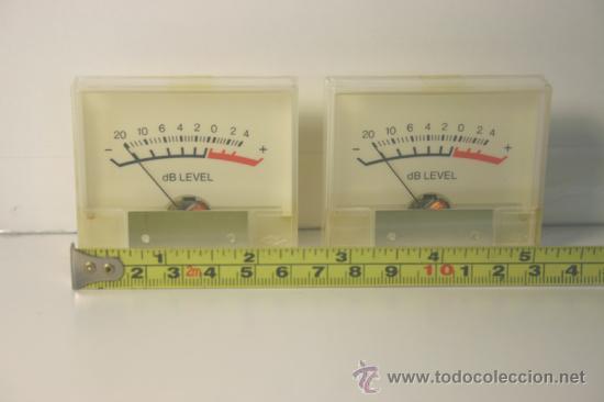 Radios antiguas: VU METER INSTRUMENTOS DE PANEL dB level - dos unidades - Foto 2 - 37357382
