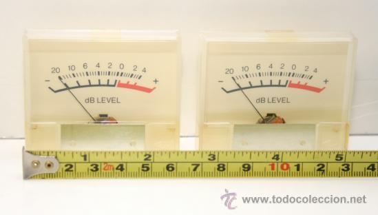 Radios antiguas: VU METER INSTRUMENTOS DE PANEL dB level - dos unidades - Foto 3 - 37357382