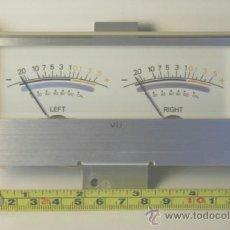 Radios antiguas: VU METER INSTRUMENTOS DE PANEL CON LUZ INTERIOR . Lote 37358700