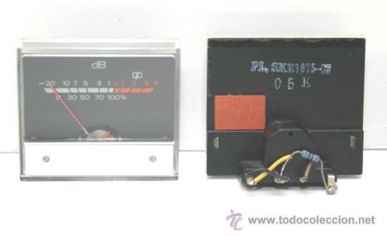 Radios antiguas: VU METER INSTRUMENTOS DE PANEL con luz interior fondo negro 2 unidades - Foto 2 - 37359377