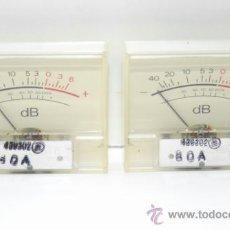 Radios antiguas: VU METER INSTRUMENTOS DE PANEL DB CON LUZ INTERIOR-DOS UNIDADES. Lote 37360323
