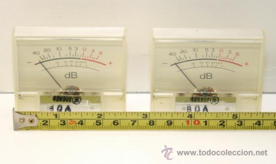 Radios antiguas: VU METER INSTRUMENTOS DE PANEL dB con luz interior-dos unidades - Foto 2 - 37360323
