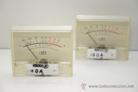 Radios antiguas: VU METER INSTRUMENTOS DE PANEL dB con luz interior-dos unidades - Foto 3 - 37360323