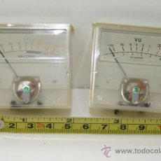 Radios antiguas: VU METER INSTRUMENTOS DE PANEL BATTERY Y TUNING-DOS UNIDADES PROBADOS. Lote 37365806