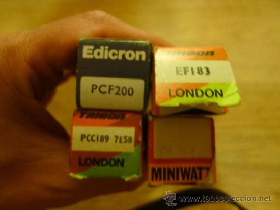Radios antiguas: Lote de Valvulas algunas en su caja original MIniwatt Trigon Edicron Mullard Era - Foto 3 - 37373362