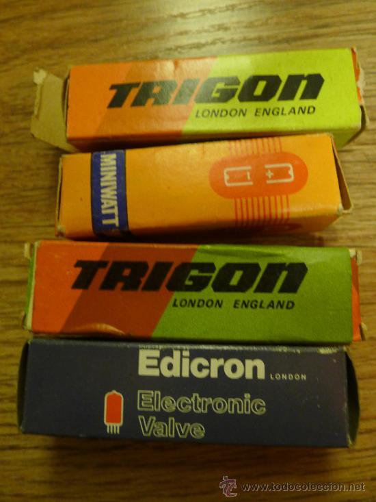 Radios antiguas: Lote de Valvulas algunas en su caja original MIniwatt Trigon Edicron Mullard Era - Foto 2 - 37373362