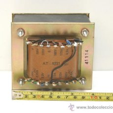 Radios antiguas: POWER TRANSFORMER TRANSFORMADOR DE ALIMENTACION PARA AMPLIFICADOR A VALVULAS REF. AT-5231 TESTADO. Lote 67894521