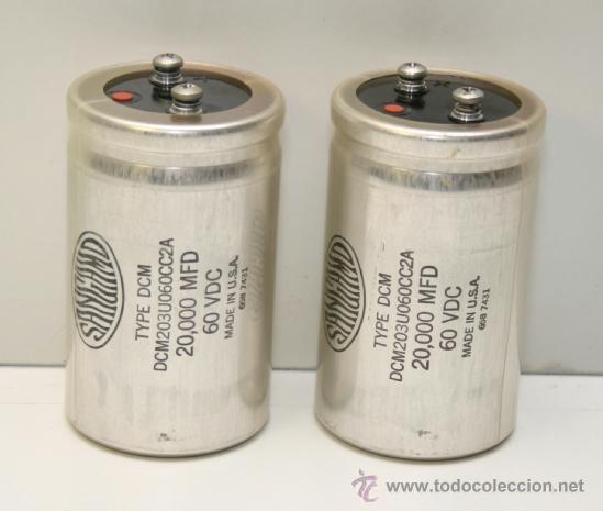 MARANTZ MODEL 250 M POWER SUPPLY ELECTROLYTIC CAPACITORS 2 CONDESADORES (Radios, Gramófonos, Grabadoras y Otros - Repuestos y Lámparas a Válvulas)