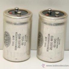 Radios antiguas: MARANTZ MODEL 250 M POWER SUPPLY ELECTROLYTIC CAPACITORS 2 CONDESADORES. Lote 37562993