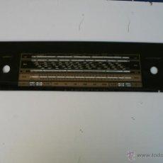 Radios antiguas: CRISTAL DE DIAL. 54,7 X 12 CM. REF. 4 - GRUNDIG. Lote 39895618