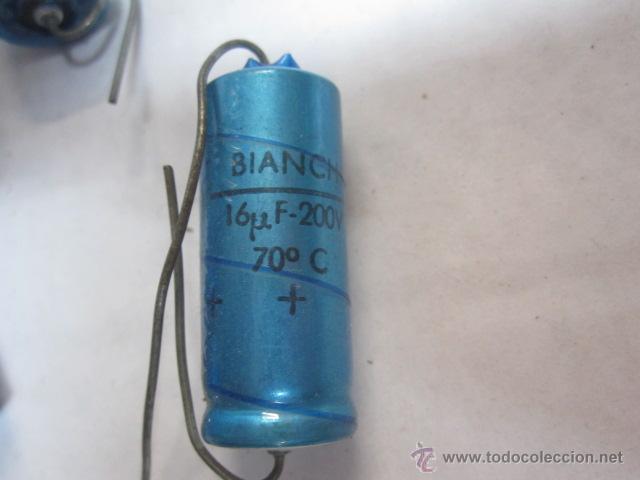 Radios antiguas: LIQUIDACION 14 CONDENDASORES ELECTROLITICOS BIANCHI 16 MICROF 16 VOLTIOS SIN USO - Foto 2 - 40845220