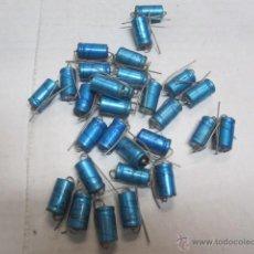 Radios antiguas: LIQUIDACION 30 CONDENDASORES ELECTROLITICOS BIANCHI 220 MICROF 16 VOLTIOS SIN USO 2CM. Lote 40845364