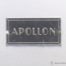 Radios antiguas: CHAPA GRAMOFONO APOLLON, - MEDIDA 6X3 CM. Lote 44012733
