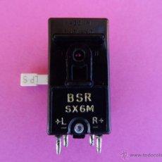 Radios antiguas: CAPSULA BSR SX6M CON AGUJA DOBLE PUNTA PARA TOCADISCOS STEREORAMA 2000 Y COMPATIBLES. Lote 44696636