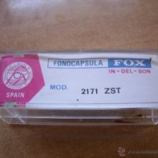 Radios antiguas: FONOCÁPSULA FOX. 2171 ZST. INDUSTRIAS DEL SONIDO. AGUJA. VINTAGE. Lote 118658191
