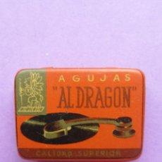 Radios antiguas: CAJITA AGUJAS.AL DRAGON.ALGUNAS AGUJAS.. Lote 45901752