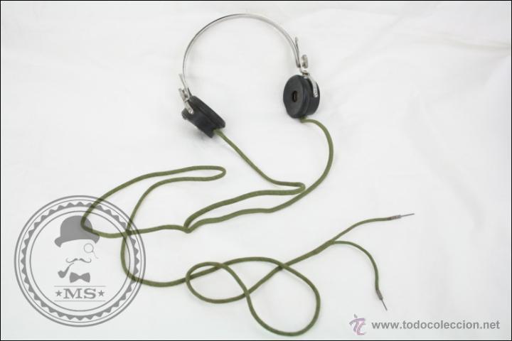 ANTIGUOS AURICULARES PARA RADIO DE LA CASA PIVAL - PIVAL 2000 OHMS - BUEN ESTADO GENERAL (Radios, Gramófonos, Grabadoras y Otros - Repuestos y Lámparas a Válvulas)
