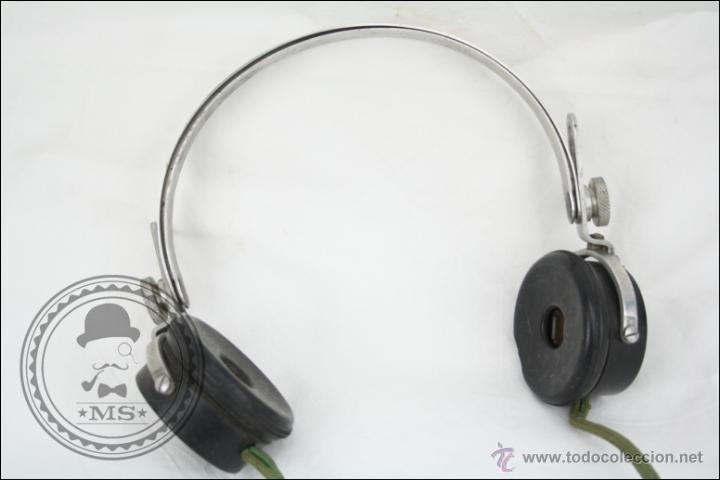 Radios antiguas: Antiguos Auriculares para Radio de la Casa Pival - Pival 2000 Ohms - Buen Estado General - Foto 2 - 46689134