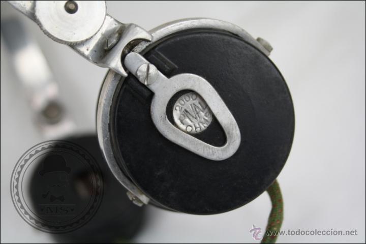 Radios antiguas: Antiguos Auriculares para Radio de la Casa Pival - Pival 2000 Ohms - Buen Estado General - Foto 5 - 46689134