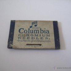 Radios antiguas: SOBRE DE CARTÓN CON 2 AGUJAS PARA GRAMÓFONO. COLUMBIA CHROMIUN . CAJA AGUJA . Lote 47967461