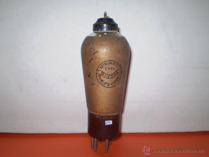 VALVULA E444-PHILIPS-MINIWATT- USADA TESTADA.. (Radios, Gramófonos, Grabadoras y Otros - Repuestos y Lámparas a Válvulas)