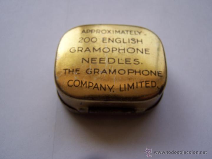 Radios antiguas: Cajita con 150 púas de gramófono sin usar de la marca la voz de su amo. - Foto 2 - 49079785