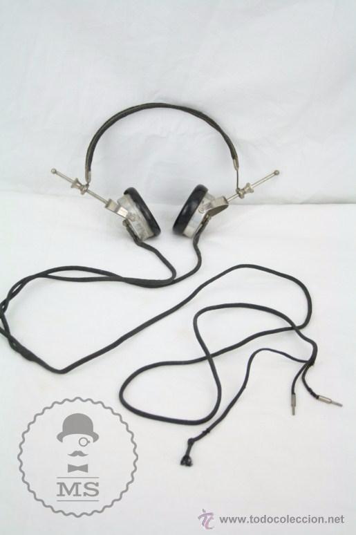 ANTIGUOS AURICULARES PARA RADIO BRANDES SUPERIOR - BBC - FABRICADOS EN INGLATERRA - EN BUEN ESTADO (Radios, Gramófonos, Grabadoras y Otros - Repuestos y Lámparas a Válvulas)