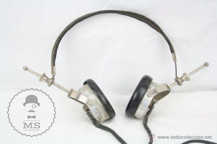 Radios antiguas: Antiguos Auriculares para Radio Brandes Superior - BBC - Fabricados en Inglaterra - En Buen Estado - Foto 5 - 49558803