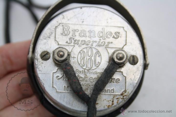 Radios antiguas: Antiguos Auriculares para Radio Brandes Superior - BBC - Fabricados en Inglaterra - En Buen Estado - Foto 8 - 49558803