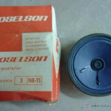 Radios antiguas: ALTAVOZ ROSELSON PARA TRANSISTOR MODELO 3/NB-TS NUEVO A ESTRENAR. Lote 113386092