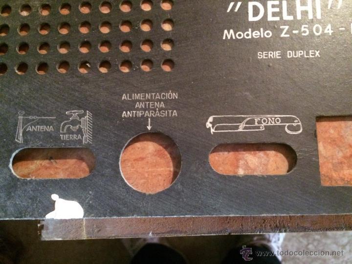 Radios antiguas: Antigua tapa posterior de radio mara Delhi de los años 50 repuesto para radio - Foto 2 - 52748415