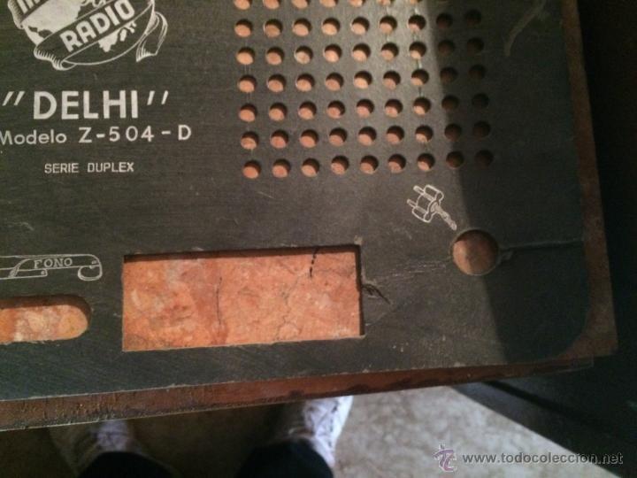 Radios antiguas: Antigua tapa posterior de radio mara Delhi de los años 50 repuesto para radio - Foto 3 - 52748415