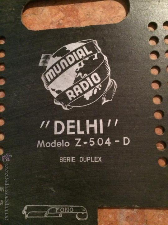 Radios antiguas: Antigua tapa posterior de radio mara Delhi de los años 50 repuesto para radio - Foto 5 - 52748415