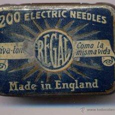 Radios antiguas: CAJA 200 ELECTRIC NEEDLES .-REGAL.- MADE IN ENGLAND. Lote 52831033