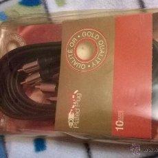 Radios antiguas: CABLE KBL241G THOMSON GOLD PLATED PLUG CABLE (+- 2 M) 3 RCA MACHO/3 RCA MACHO 75 OHMS. Lote 54716725