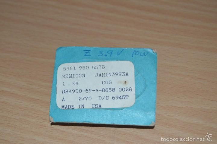 Radios antiguas: 1X NOS - MOTOROLA - ZENER DIODE DIODO - 1N3993A - AÑOS 60/70 - VINTAJE - NUEVO - NEW - Foto 2 - 56129776