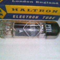 Radios antiguas: VALVULA PY81 HALTRON NUEVA EN CAJA ORIGINAL ANTIGUO STOCK. Lote 56285579