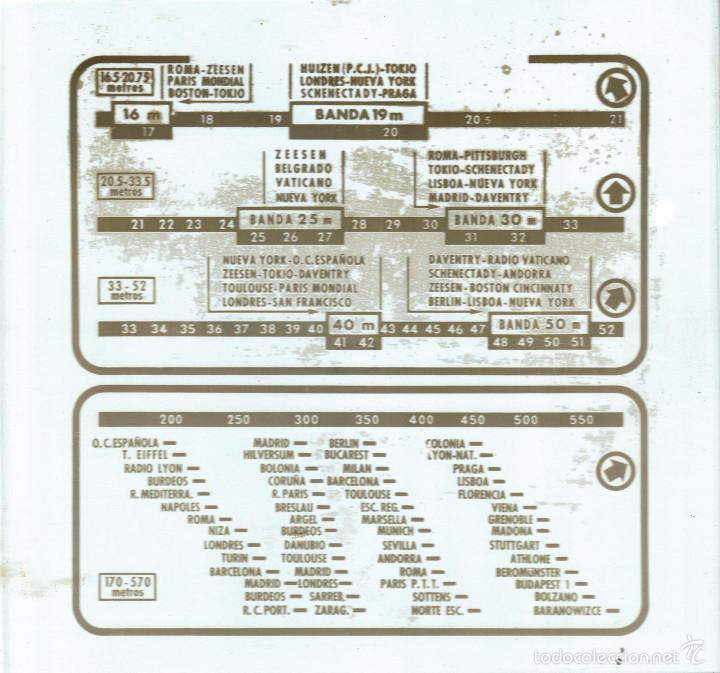 ANTIGUO CRISTAL PARA RADIO DE VALVULAS....SANNA (Radios, Gramófonos, Grabadoras y Otros - Repuestos y Lámparas a Válvulas)